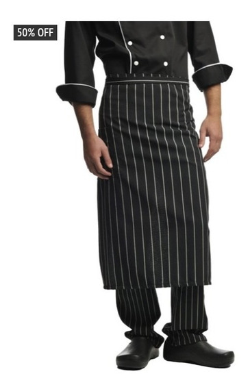 Delantal Cocinero Chef Cintura Bengalina Marca Modo