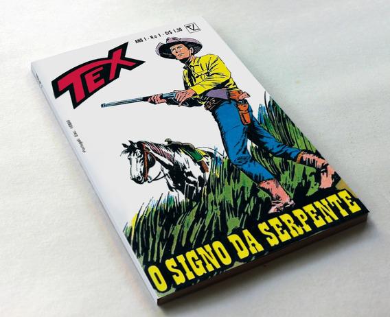 Tex 1 Primeira Edição Editora Vecchi - 1971 - Facsim.