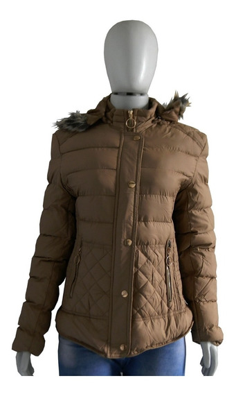 Jaqueta De Inverno Feminina Capuz Pelinhos Nylon Blusa Frio