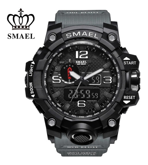 Relógio Smael 1545 Estilo G Militar Sports Duplo Display