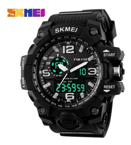 Relógio Esportivo Masculino Analógico E Digital Skmei 1155