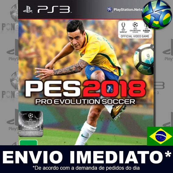 Pes 2018 Pro Evolution Soccer 18 Ps3 Psn Dublado Português