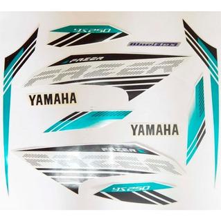 Kit Adesivo Faixa Jogo Yamaha Ys 250 Fazer 2016 Branca
