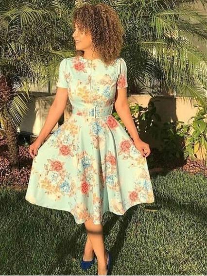 Vestido Midi Com Zíper Na Frente Moda Evangélica Cinto
