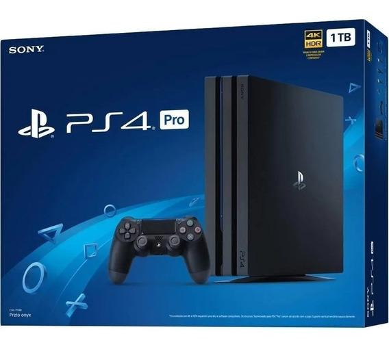 Playstation 4 Pro 1tb Ps4 4k Novo Lacrado 2 Controles 650