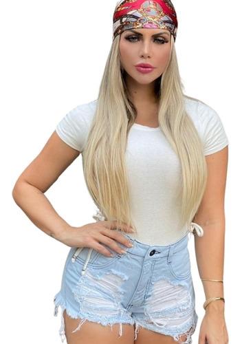 Imagem 1 de 3 de Shorts Jeans Feminino Customizado Hot Pants Manchado St014