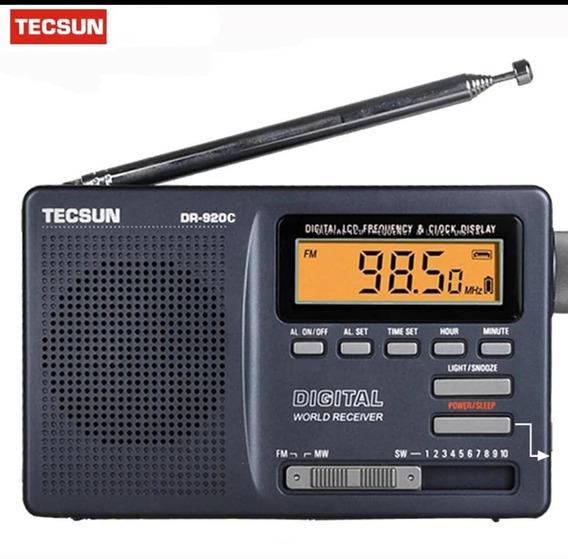 Rádio Tecsun Portátil Dr-920c Rádio Fm Mw Sw 12 Banda