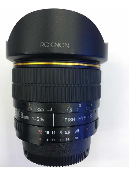 Rokinon 8mm 3.5 (para Câmeras Nikon Cropadas)