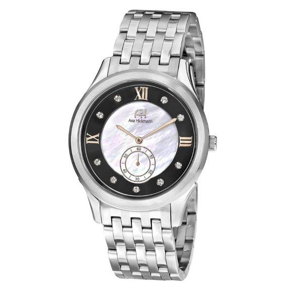 Relógio Feminino Ana Hickmann Analógico Ah28704t Preto