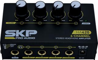 Amplificador De Auriculares 4 Canales Skp Ha420