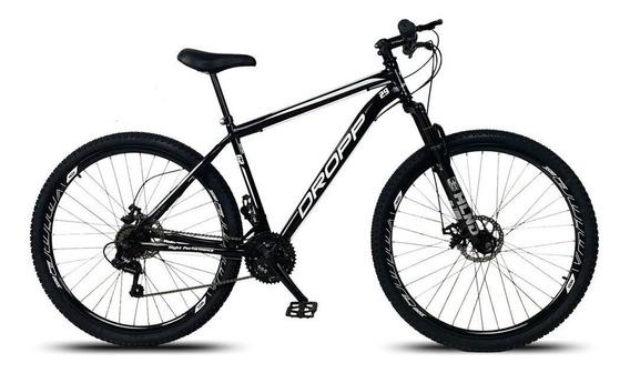 Bicicleta Aro 29 Q17 Freio Disco 21v Susp Aço Preto Branco