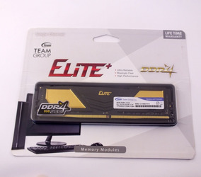Memória Ram Gamer Ddr4 8gb Elite+ Team Black 2133mhz A10772