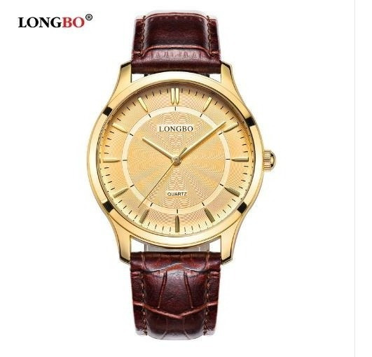 Relogio Longbo De Luxo Pulsiera De Couro Relógio De Quartzo