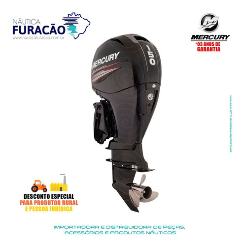 Motor De Popa Mercury 4 Tempos 150hp L 3.0l Efi