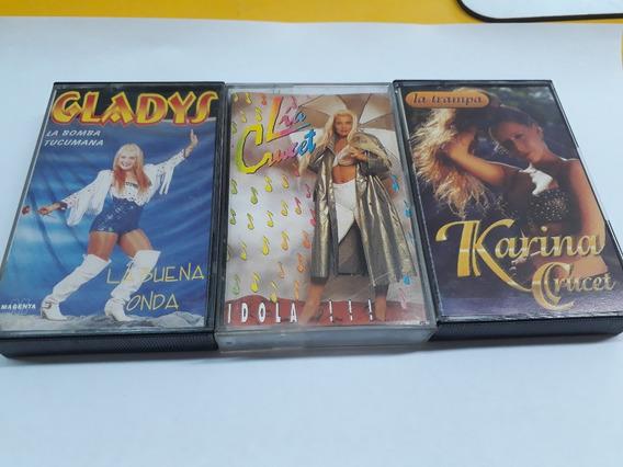 Lote 3 Cassettes*cumbia*lia Y Karina Crucet*gladys*