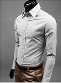 Camisa Social Slim Masculina Casual Pronto Entrega