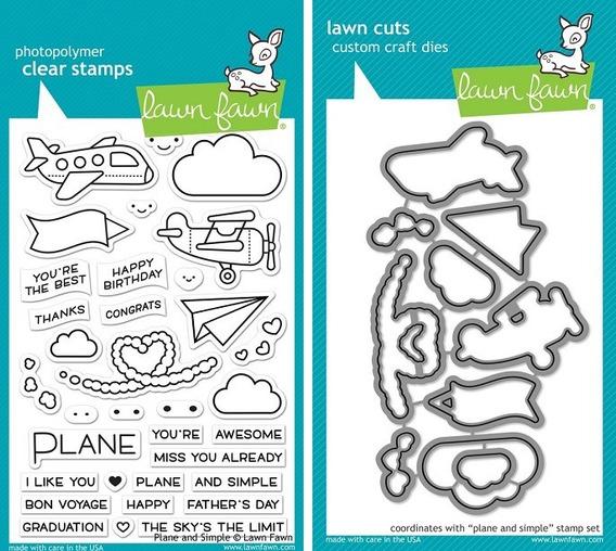 Sellos + Suajes Lawn Fawn Scrapbook Manualidad Aviones Volar