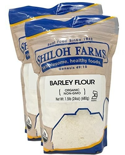 Shiloh Granjas - Orgánica Harina De Cebada, 2 Packs - 24 Onz