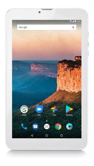 Tablet Multilaser Prata M9 3g Memoria 8gb Dual Chip - Nb284. 1 Ano De Garantia Nota Fiscal.