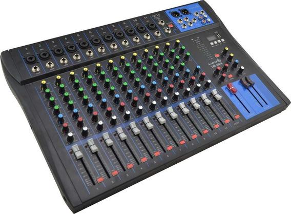 Mesa De Som Mixer Lyco 13 Canais Lmg1301u Usb Padrão Yamaha