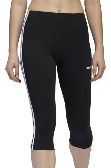 Calza Capri adidas Training W Essentials 3s Mujer Ng/bl