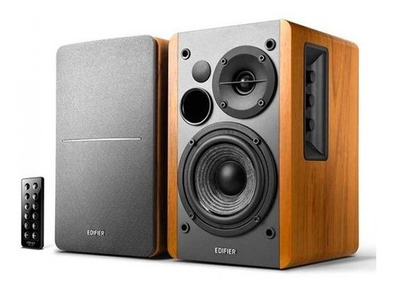 Monitor De Áudio Edifier Estúdio R1280db Madeira 42w Rms