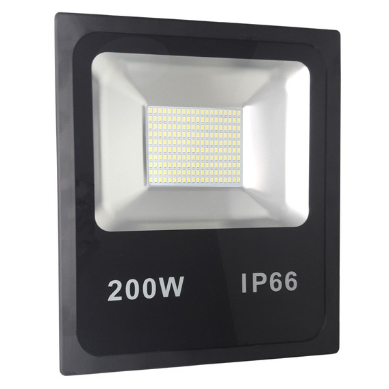 Refletor Led Smd 200w Branco Frio Ip66 Bivolt Kit 8
