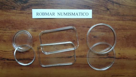Robmar-lote De 10 Capsulas Plasticas Para Proteger Monedas