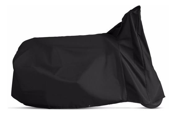 Capa Protetora Para Moto Yess Pvc Preta Forrada Com Feltro