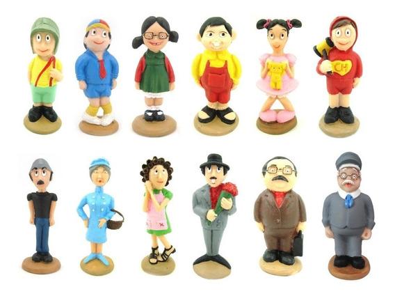 Turma Do Chaves Coleção Completa Com 12 Personagens Resina