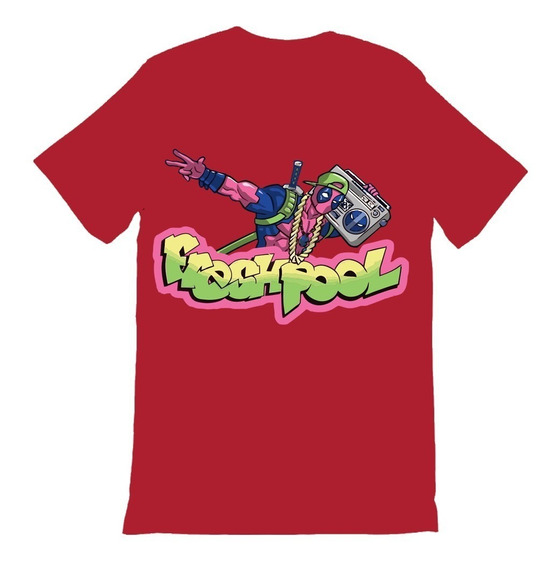 Playera Deadpool Varios Diseños Marvel Algodon 10 Beloma