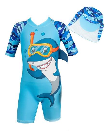Traje De Baño Niños 2 Pz .tiburon Snorker * Envio Gratis*