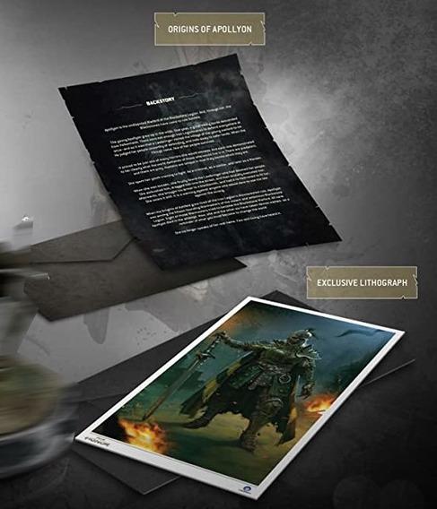 For Honor Apollyon Itens Litografia E Nota Novo