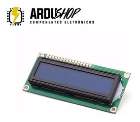 Display Lcd 16x2 1602 Com Fundo Azul E Blacklight