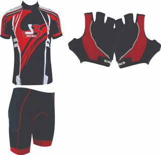 Conjunto Masculino Roud Camisa+bermuda+luva Vermelho