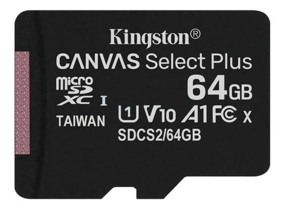 Cartão De Memória Kingston Microsdcs Canvas Select 64gb