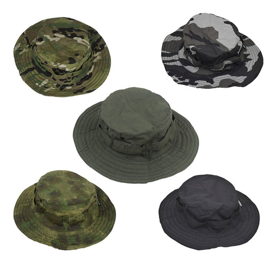 Chapéu Hat Tático Militar Sniper Camuflado Pesca Camping