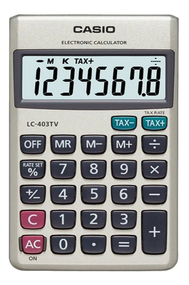 Calculadora De Bolsillo Casio Lc 403 Tv