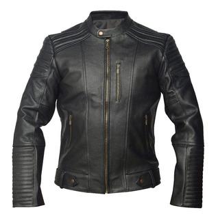 Chamarra Bob De Piel Gruesa Color Negro Para Motociclista