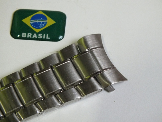 Pulseira Aço Relógio-orient-citizen Ou Technos Nº24mm X 1 Cm