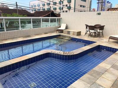 Apartamento Com 1 Dormitório Para Alugar, 48 M² Por R$ 1.200/mês - Aviação - Praia Grande/sp - Ap0086