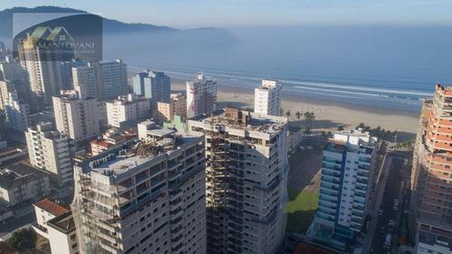 Apartamento Com 2 Dormitórios À Venda, 74 M² Por R$ 490.000,00 - Canto Do Forte - Praia Grande/sp - Ap2334