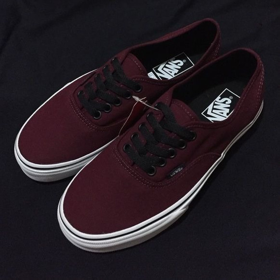 Tenis Vans Authentic Port Royale Black Vino Originales