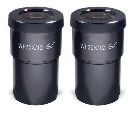 Lente Para Microscópio Ssi Scienscope (20x) - Par Em-le-w20