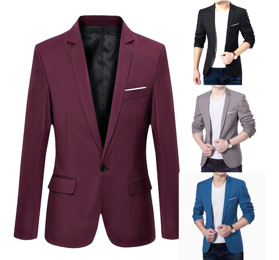 Blazer Slim Fit Luxo Casual Importado Masculino Formal Fino