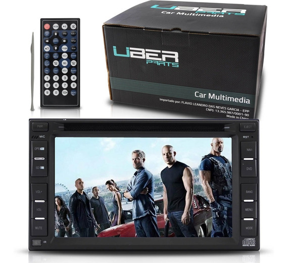 Dvd Player 2 Din 6,2 Central Multimidia Gps Rca Bluetooth