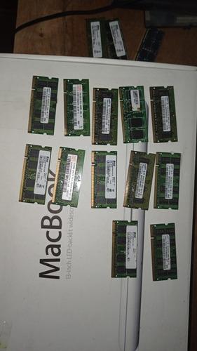Imagem 1 de 4 de Lote Memória Ram Notebook Ddr2