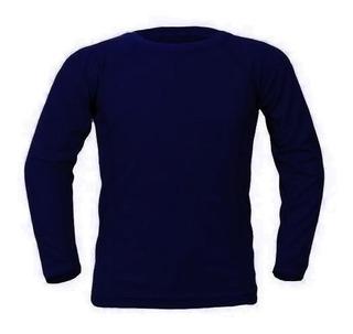 Remera Camiseta Fibra Termica Con Friza Primera Piel