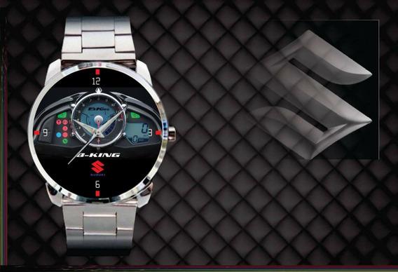 Relógio De Pulso Personalizado Painel Moto Suzuki Gsx B-king