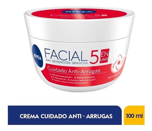 Crema Facial Nivea Cuidado Anti-arrugas 5 En 1 X 100ml